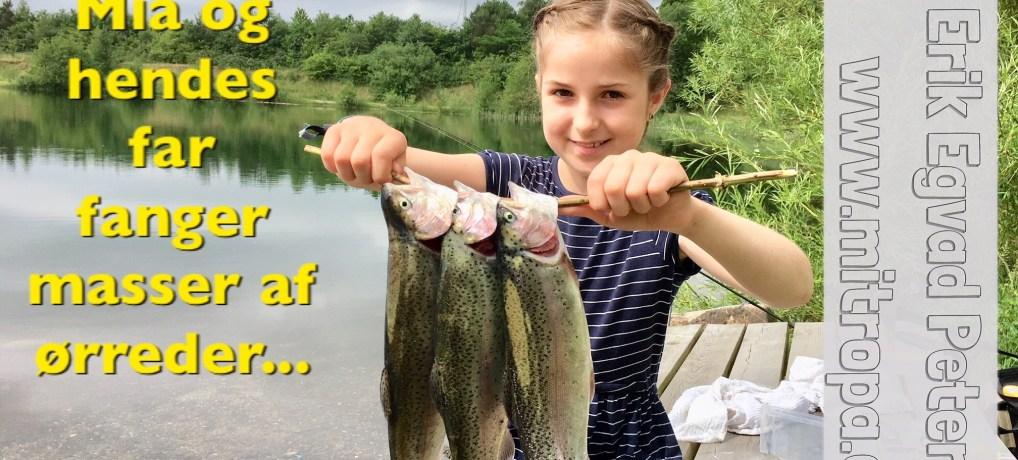 9-årige Mia fra Rødekro fanger masser af ørreder