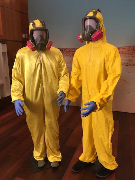 Breaking Bad yellow hazmat suits at Smithsonian