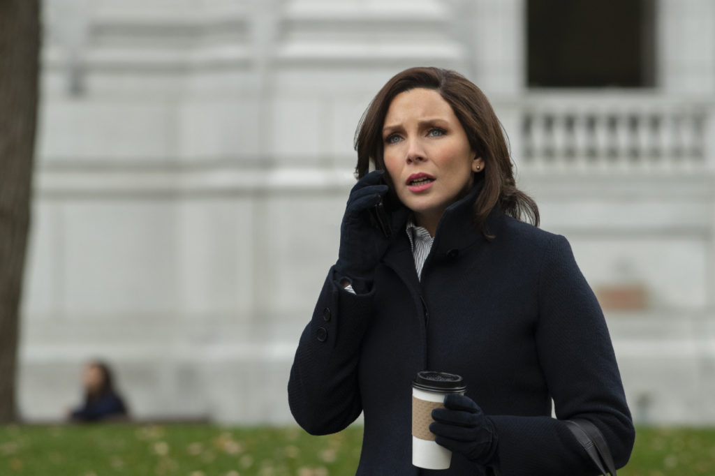 June Diane Raphael on the phone in The Long Shot