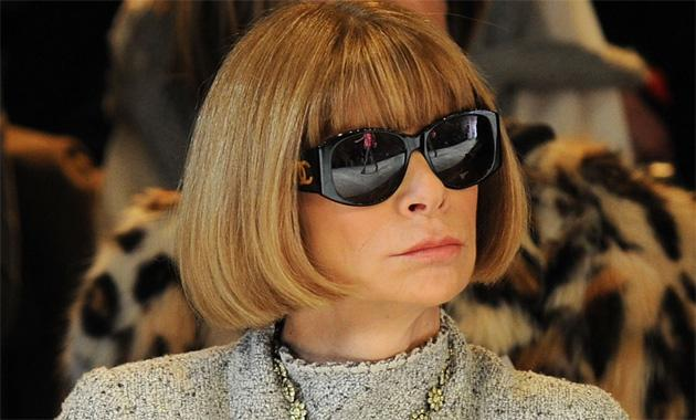 Anna Wintour in Chanel sunglasses at a