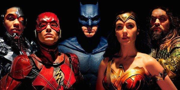 Justice League Movie Banner Characters wonder woman batman superman flash cyborg