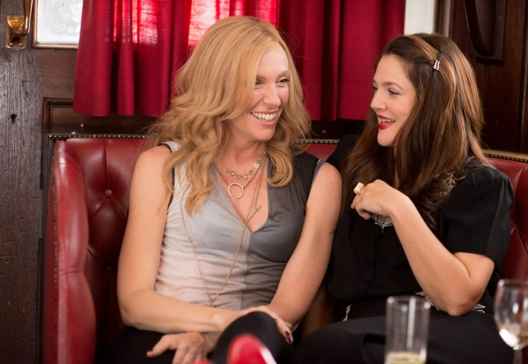 Drew Barrymore and Toni Collette at a bar in Miss You Already