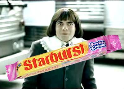 Creepy Starburst berries and cream guy
