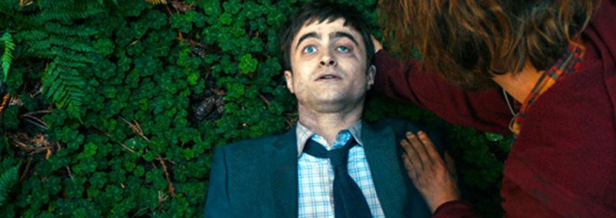 Daniel Radcliffe corpse with Paul Dano in Swiss Army Man