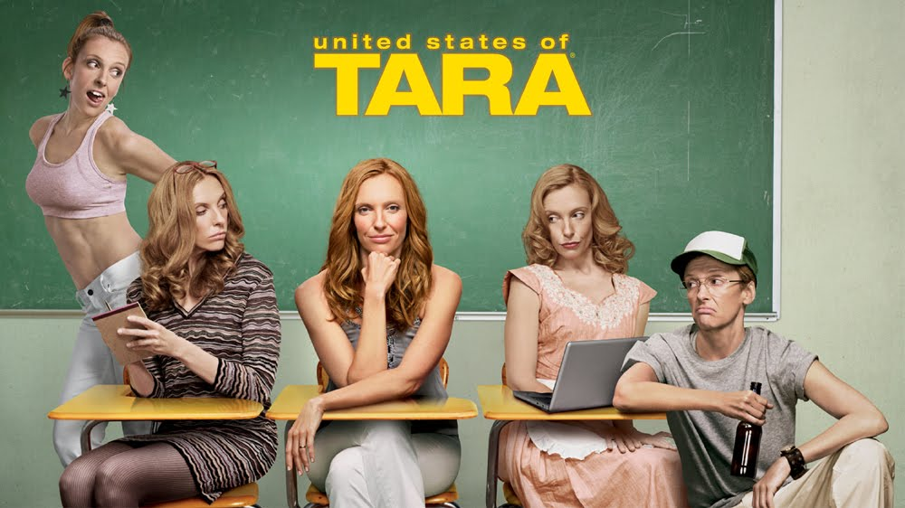 United States of Tara poster featuring all of Tara's multiple personalities