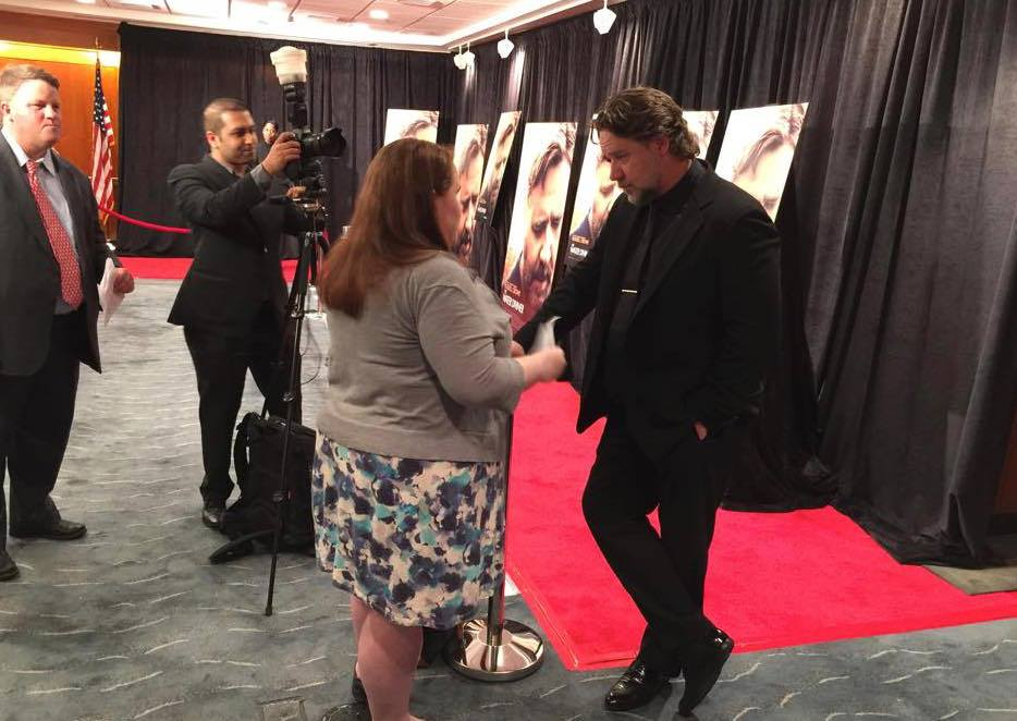 Russell Crowe on the Red Carpet in Washington, DC for The Water Diviner