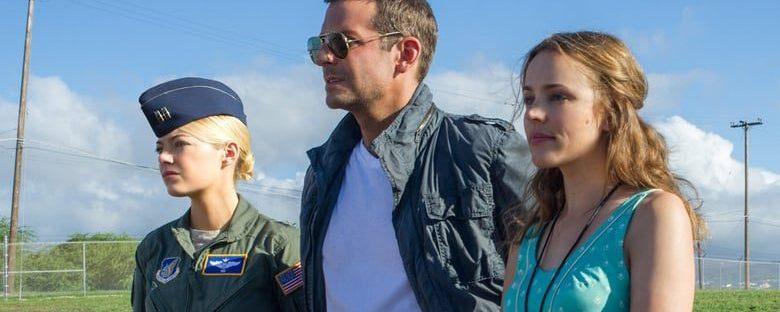 Emma Stone, Rachel McAdams, and Bradley Cooper in Hawaii in Aloha