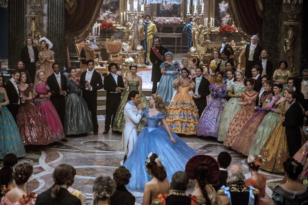 Cinderella and Prince Charming dancing in Cinderella