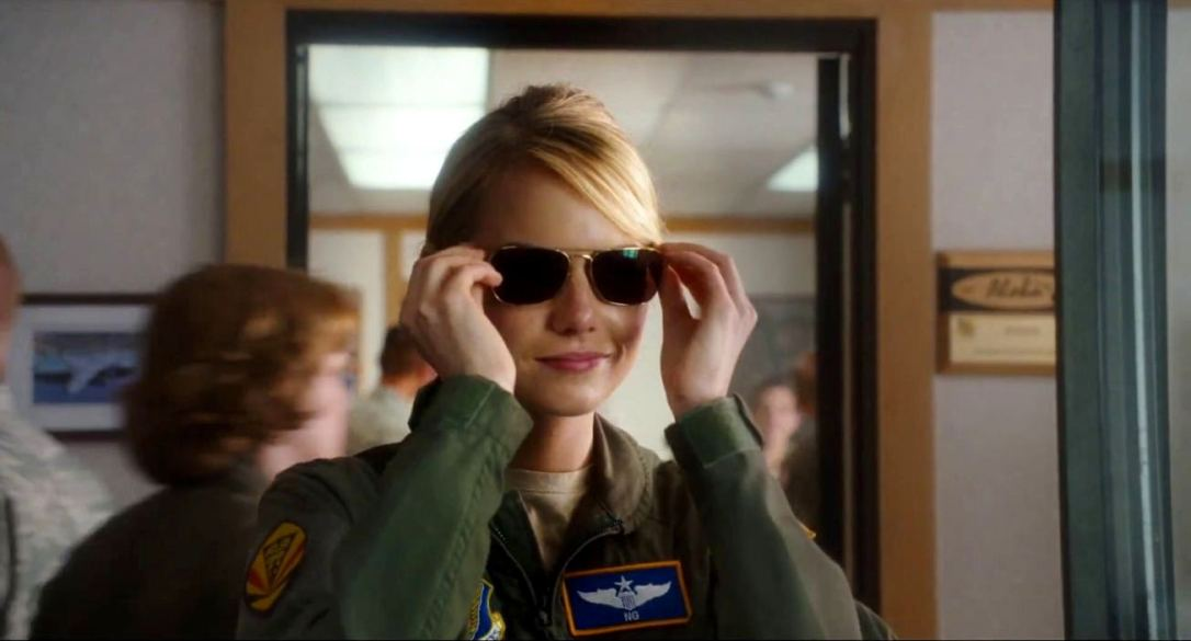 Emma Stone in military uniform Aloha