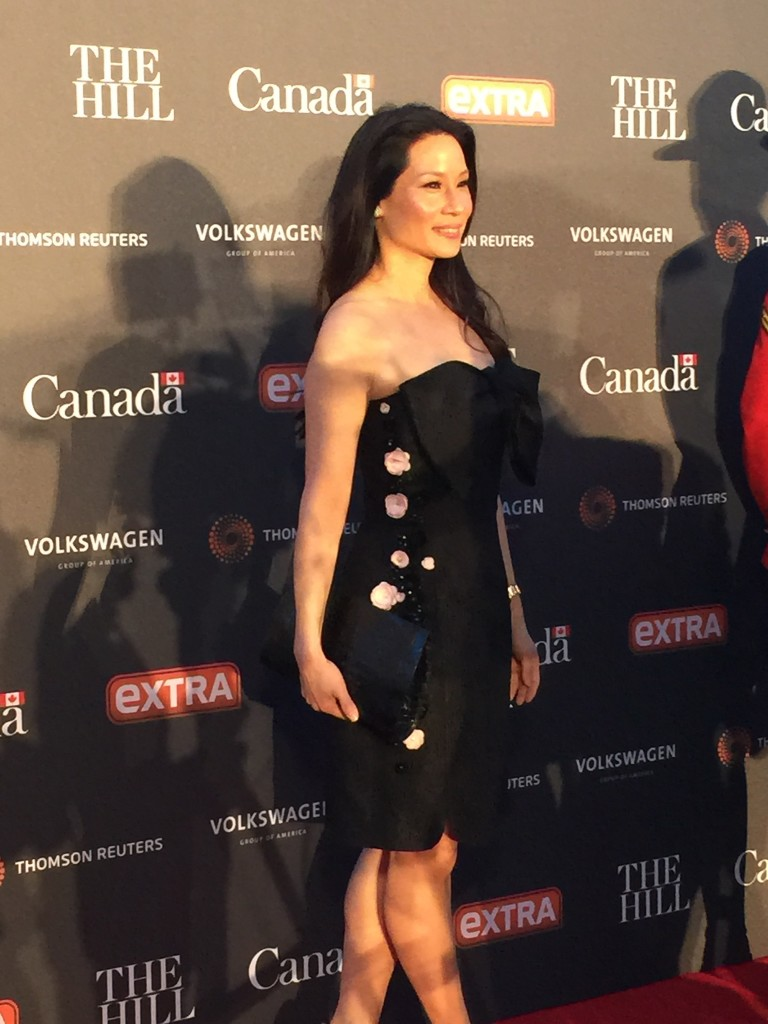 Lucy Liu at WHCD party at Canadian Embassy