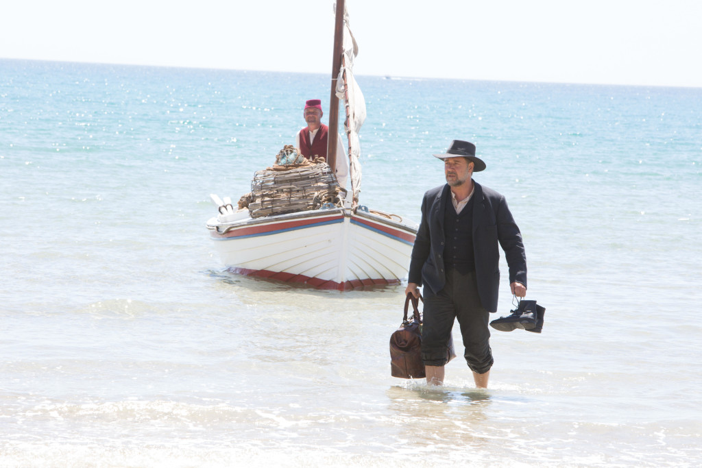 Russell Crowe in the ocean in The Water Diviner