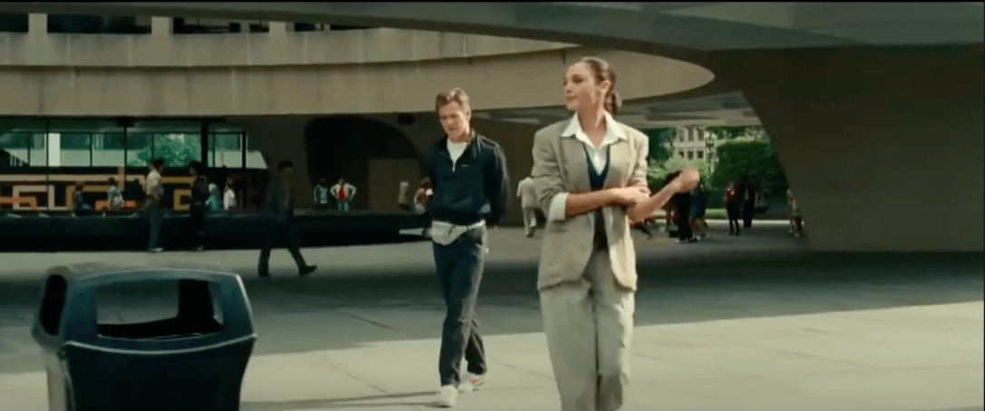 Chris Pine and Gal Gadot filming outside of Hirshorn Washington DC