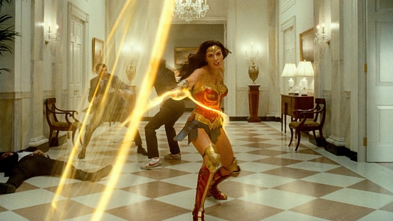 Wonder Woman with Lasso of Truth in White House