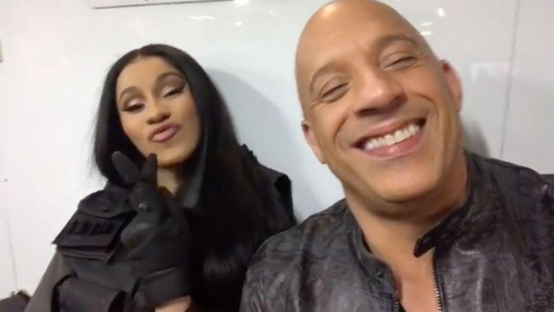 Cardi B and Vin Diesel