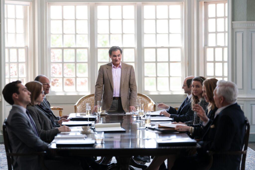 Michael Stuhlbarg in Hulu's Dopesick boardroom