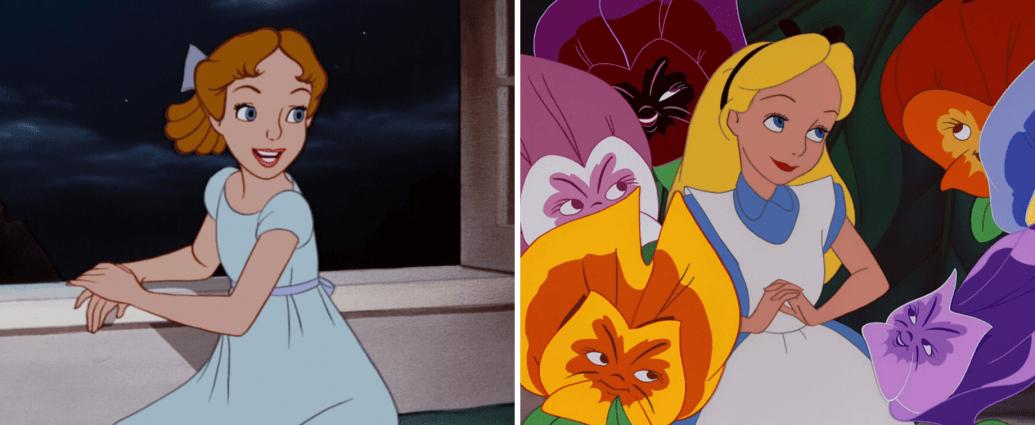 """""""Selfish"""" Female Disney Characters: Alice in Wonderland vs. Wendy Darling"""