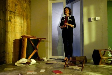 BLINDSPOT -- Pictured: Mary Elizabeth Mastrantonio as Madeline Burke -- (Photo by: Myles Aronowitz/Warner Brothers/NBC)