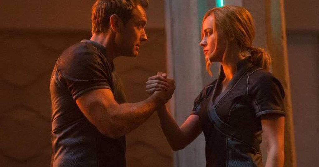 5 Actresses Who Made Us Swoon with Their Buff Arms. Pictured: Brie Larson from Captain Marvel.