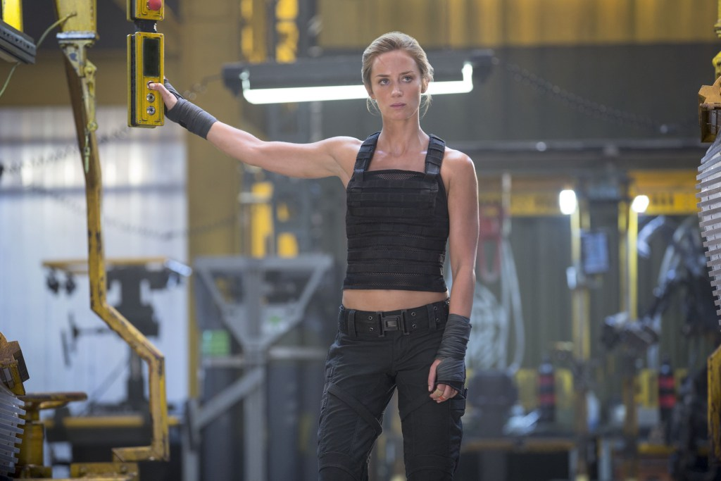 5 Actresses Who Made Us Swoon with Their Buff Arms. Pictured: Emily Blunt in Edge of Tomorrow.
