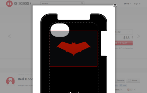 Red Hood iPhone iPod case overlay