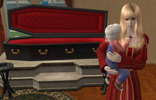 Sims 2 Nightlife Grand Vampire and son