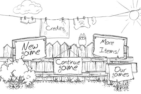 Doodle Cat title frame