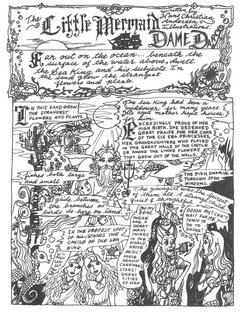 "Page from ""The Little Mermaid"" adapted by Dame Darcy Image courtesy of Seven Stories Press"