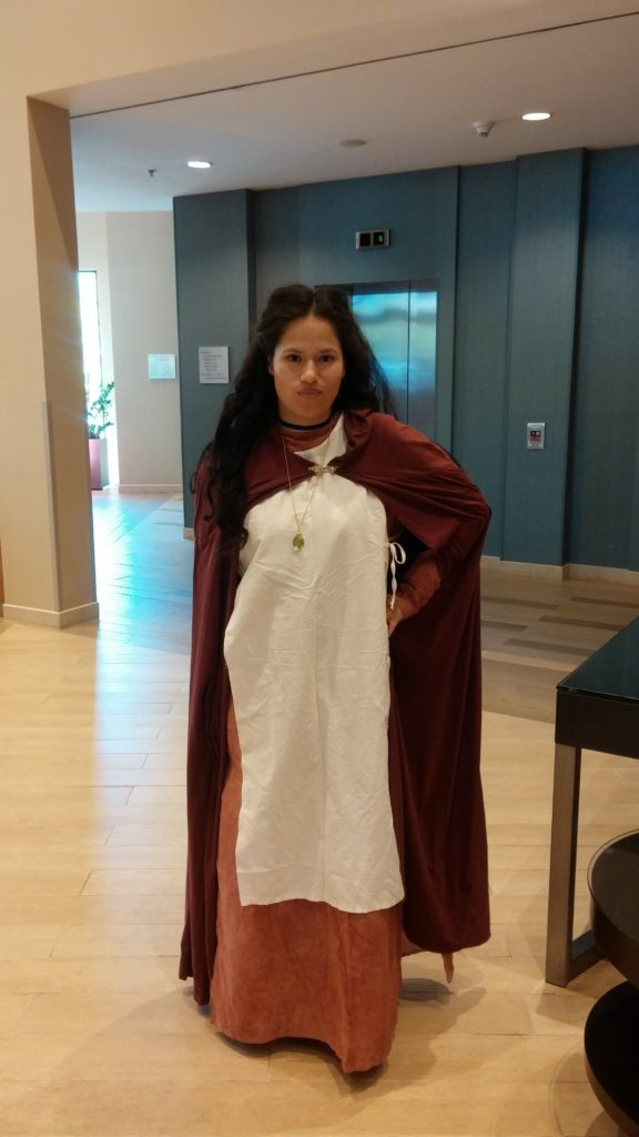 Dressed as Maid Marian