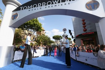 "ANAHEIM, CA - MAY 09: A view of performs on the carpet during the world premiere of Disney's ""Tomorrowland"" at Disneyland, Anaheim on May 9, 2015 in Anaheim, California. (Photo by Jesse Grant/Getty Images for Disney)"