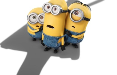 Minions being loomed over
