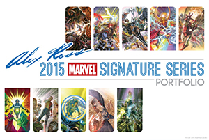 Alex Ross 2015 Marvel Signature Series Portfolio Front