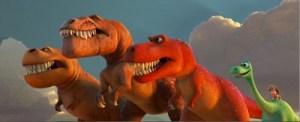 Three T-Rexes