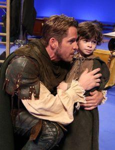 Sean Maguire (Robin Hood) and Raphael Alejandra (Roland)