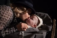 Mary (Amanda Seyfried) kissing baby Pan goodbye