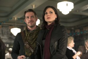 Sean Maguire (Robin Hood) and Lana Parrilla (Regina)