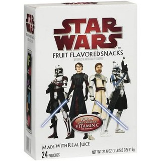 Star Wars Fruit Flavored Snacks MADE WITH REAL JUICE
