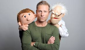 Paul Zerdin with his puppets!