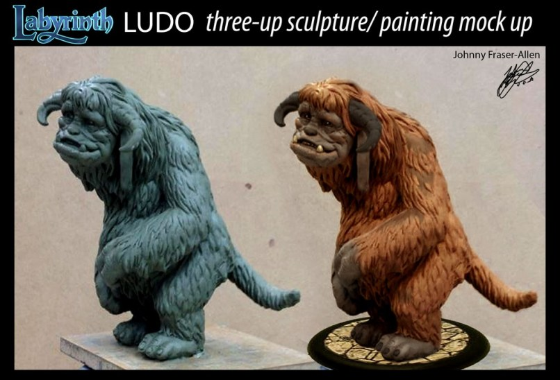 Painted sculpture for Ludo from River Horse Labyrinth Game