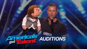 Paul Zerdin during his audition for American's Got Talent