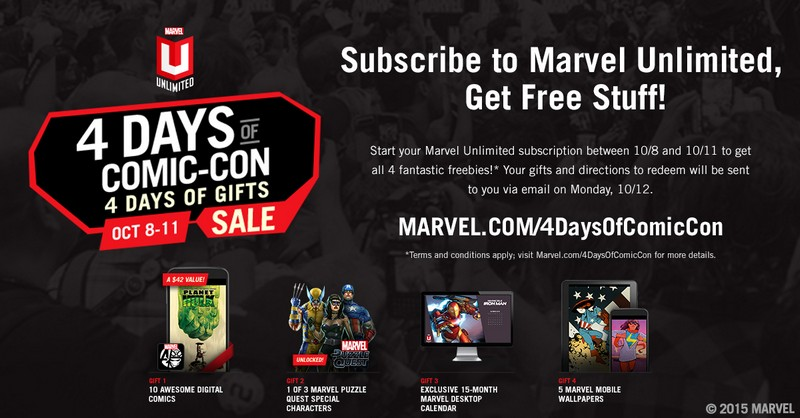 List of Free Digital Gifts from Marvel Unlimited