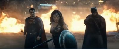 Three at last Superman, Wonder Woman, and Batman in Superman v Batman: Dawn of Justice