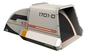 Star Trek Shuttle Tent Back opening
