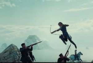 In action from Wonder Woman Trailer