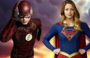 Flash-Supergirl Crossover Publicity image