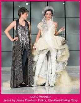 Third Her Universe Fashion Show winner Jesse Thaxton Falkor the NeverEnding Story