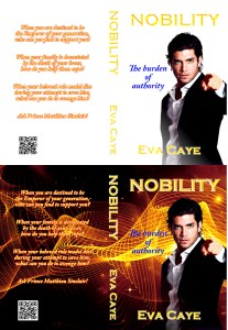 Nobility book cover with and without background
