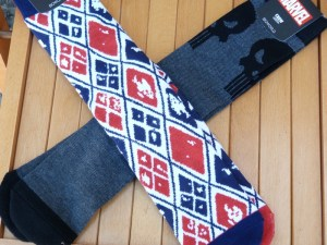 August 2016 Loot Crate Level Up Socks--Harley Quinn and Punisher