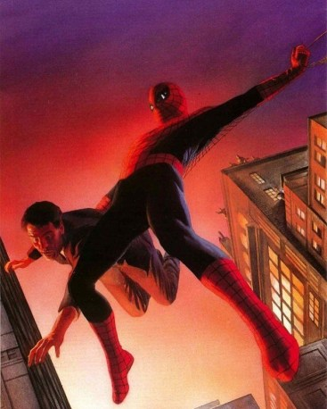 Spider-Man and J. Jonah Jameson by Alex Ross