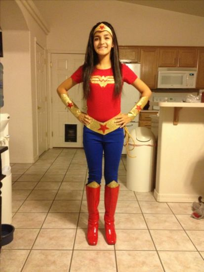 DIY Wonder Woman by Pinterest User Kenya Spencer