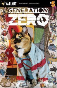 Generation Zero #5 Valiant Cat Cosplay Cover